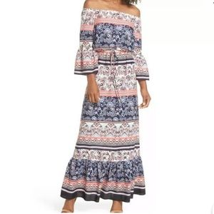 Eliza J NWOT off shoulder printed maxi dress ❤️